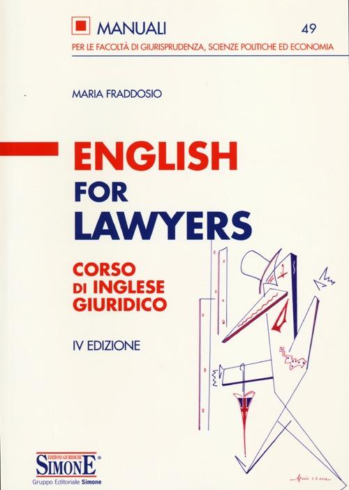 English for lawyers. Corso ...