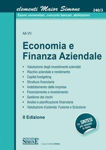 Foto Cover di Economia e finanza aziendale, Libro di  edito da Edizioni Giuridiche Simone