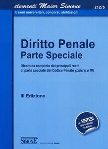 Foto Cover di Diritto penale. Parte speciale, Libro di  edito da Edizioni Giuridiche Simone