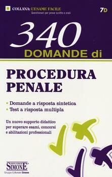 Vastese1902.it 340 domande di procedura penale Image