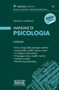 Libro Manuale di psicologia Francesco Andreoni