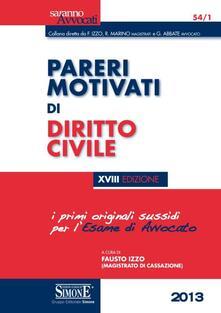Daddyswing.es Pareri motivati di diritto civile. Per l'esame di avvocato Image