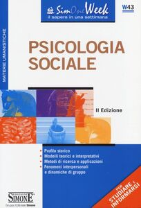 Libro Psicologia sociale