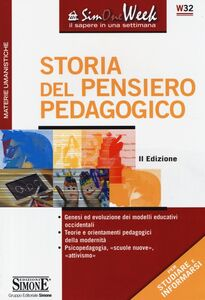 Libro Storia del pensiero pedagogico