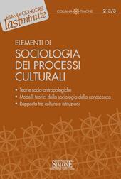 Elementi di sociologia dei processi culturali