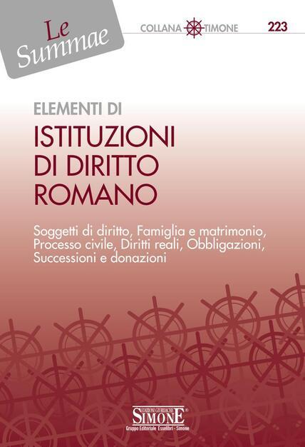 Matrimonio Romano Scribd : Elementi di istituzioni di diritto romano del giudice f