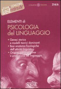 Libro Elementi di psicologia del linguaggio