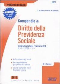 Compendio di diritto della previdenza sociale - Del Giudice Federico Mariani Federico Solombrino Mariarosaria - wuz.it