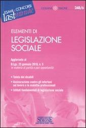 Elementi di legislazione sociale