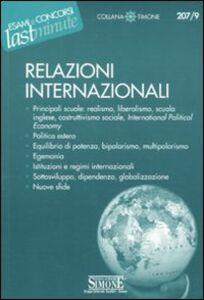 Libro Relazioni internazionali