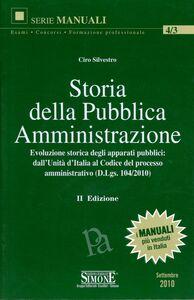Libro Storia della pubblica amministrazione Ciro Silvestro