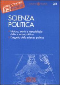 Foto Cover di Scienza politica, Libro di  edito da Edizioni Giuridiche Simone