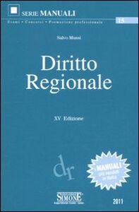 Libro Diritto regionale Salvo Mussi