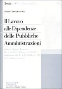 Il lavoro alle dipendenze delle pubbliche amministrazioni