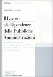 Il lavoro alle dipendenze delle pubbliche amministrazioni.pdf
