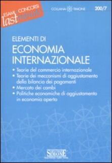 Premioquesti.it Elementi di economia internazionale Image