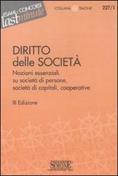 Elementi di diritto delle societa. Nozioni essenziali su societa di persone, societa di capitali, cooperative