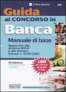 Libro Guida al concorso in banca. Manuale di base
