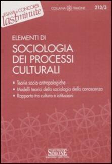 Recuperandoiltempo.it Elementi di sociologia dei processi culturali Image