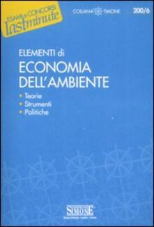 Squillogame.it Elementi di economia dell'ambiente Image
