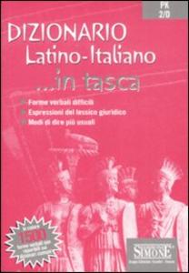 Libro Dizionario. Latino-italiano