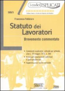 Statuto dei lavoratori. Brevemente commentato.pdf