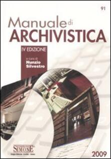 Listadelpopolo.it Manuale di archivistica Image