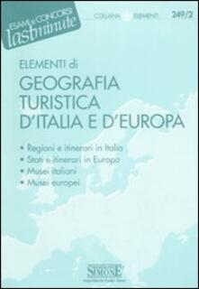 Camfeed.it Elementi di geografia turistica d'Italia e d'Europa Image