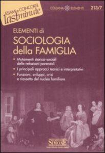 Libro Elementi di sociologia della famiglia