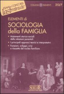Promoartpalermo.it Elementi di sociologia della famiglia Image