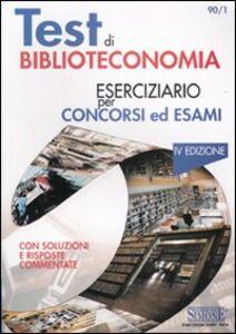 Libro Test di biblioteconomia