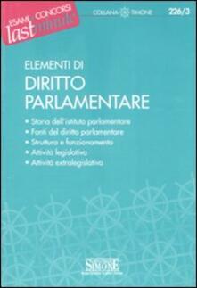 Grandtoureventi.it Elementi di diritto parlamentare Image