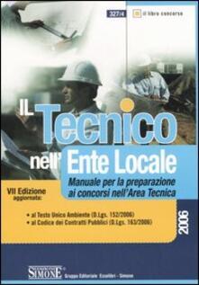 Antondemarirreguera.es Il tecnico nell'ente locale. Manuale per la preparazione ai concorsi nell'area tecnica Image