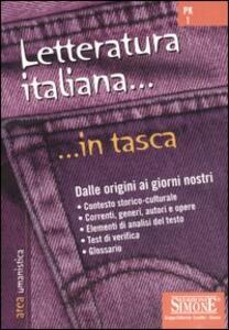 Letteratura italiana. Dalle origini ai giorni nostri