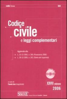 Antondemarirreguera.es Codice civile. Leggi complementari. Con CD-ROM Image
