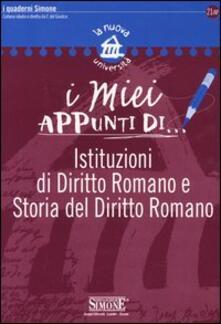 Premioquesti.it I miei appunti di...-Corredi didattici di... Istituzioni di diritto romano e storia del diritto romano Image