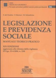 Legislazione e previdenza sociale. Manuale teorico pratico.pdf