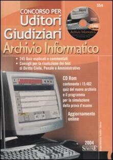 Concorso per uditori giudiziari. Archivio informatico. Con CD-ROM.pdf