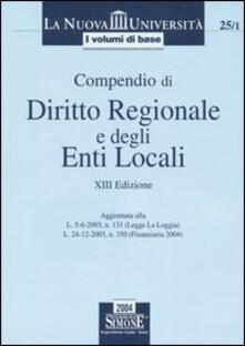 Cocktaillab.it Compendio di diritto regionale e degli enti locali Image