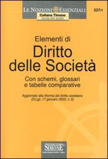 Elementi di diritto delle società. Con schemi, glossari e tabelle comparative.pdf