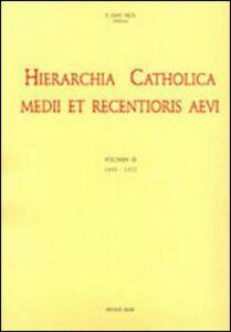 Libro Hierarchia catholica. Vol. 9: 1903-1922.