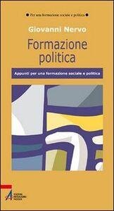 Formazione politica. Appunti per una formazione sociale e politica