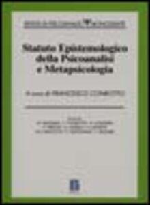 Libro Statuto epistemologico della psicoanalisi e metapsicologia