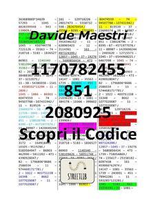1170782455 – 851 – 2080925 / Scopri il Codice