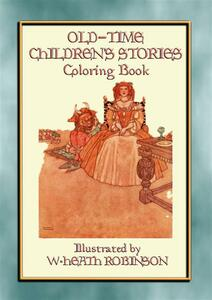 Old-time children's stories colouring book