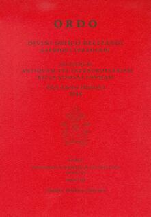 Ordo. Divini officii recitandi sacrique peragendi. Secundum antiquam vel extraordinariam ritus romani formam 2018 - copertina