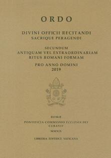 Winniearcher.com Ordo. Divini officii recitandi sacrique peragendi. Secundum antiquam vel extraordinariam ritus romani formam. 2019 Image