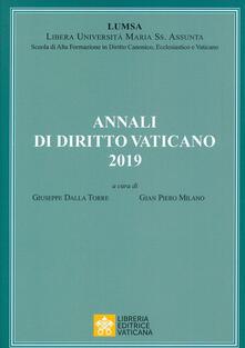 Warholgenova.it Annali di diritto vaticano (2019) Image