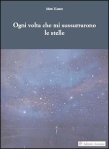 Ogni volta che mi sussurrarono le stelle - Misk Hamid - copertina