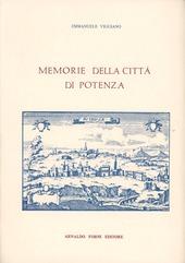 Memorie della città di Potenza (rist. anast. Napoli, 1805)